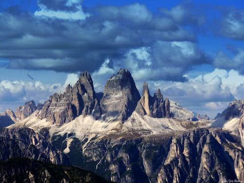 Tre Cime di Lavaredo from Torre Pian dei Buoi