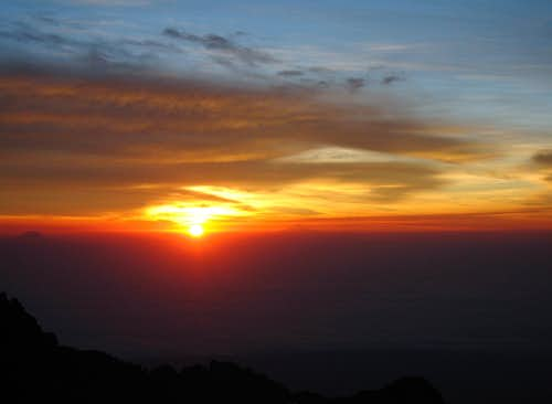 Sunrise from Izta