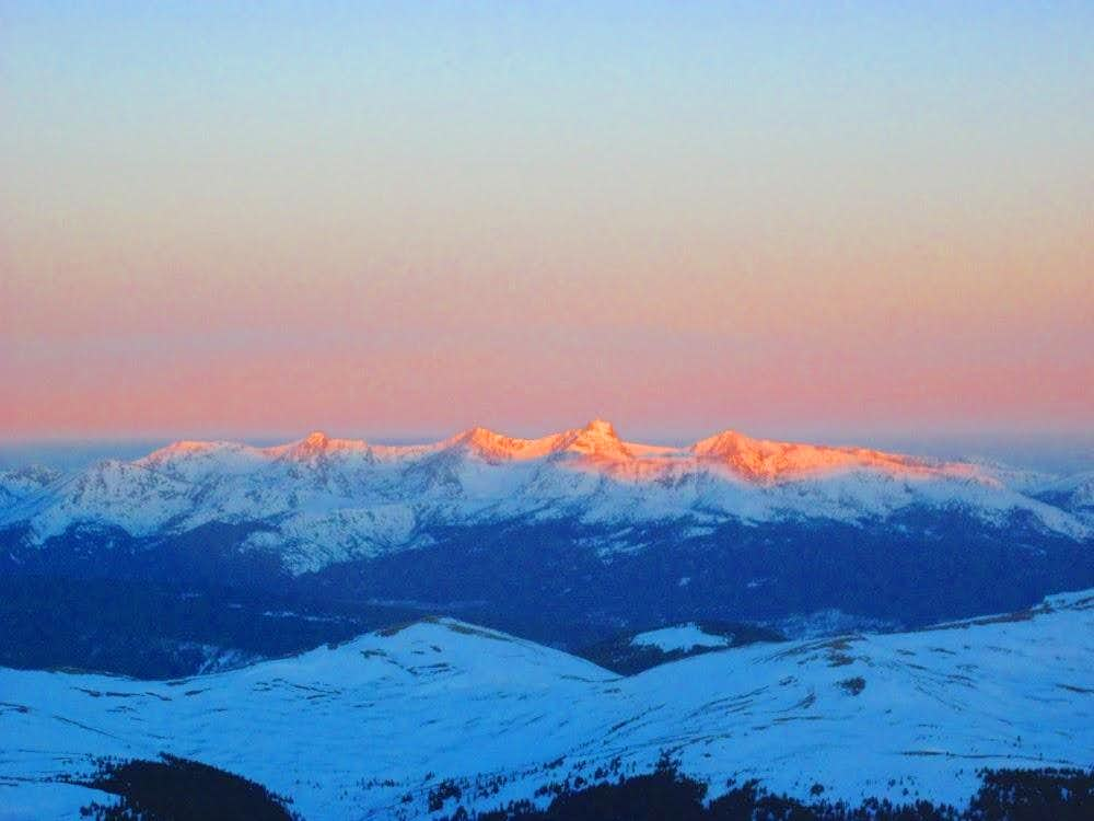 Stunning Alpenglow on the Mount of The Holy Cross