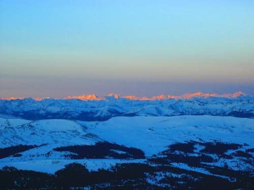Entire Elk Range illuminated in the early morning light