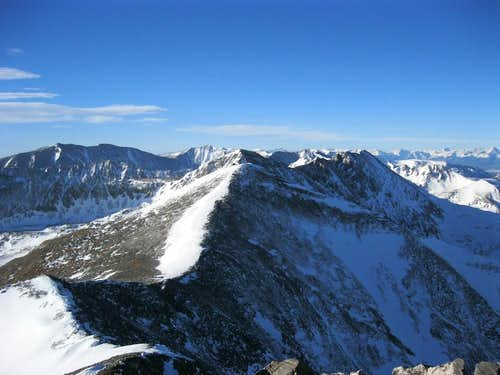View back to Atlantic Peak from Pacific's Summit