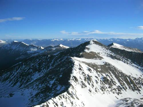 View towards Crystal Peak from Pacific's Summit