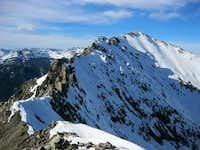 The relentlessly fun/challenging ridge to Peak 2