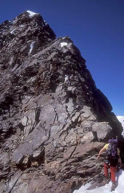 on north ridge of Lagginhorn...