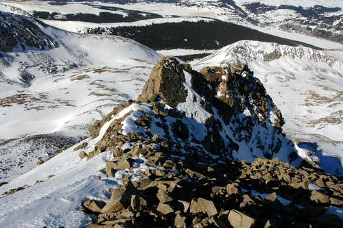 Looking down along the West Ridge