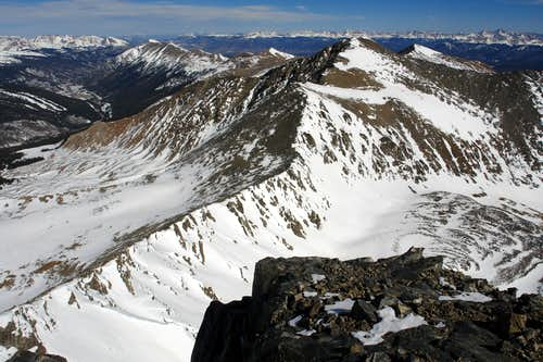 Pacific Peak summit: view towards Crystal Peak