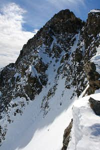 The upper North Couloir