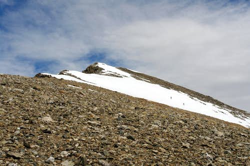 Approaching the summit of Crystal Peak