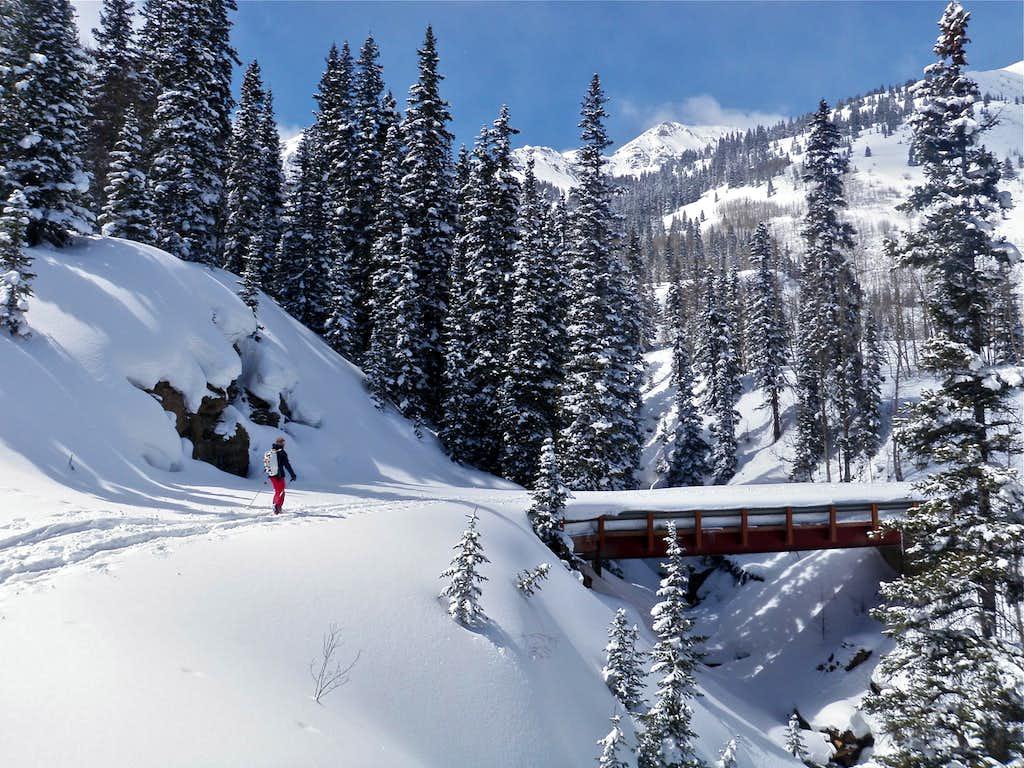 Ski touring below Red Mountain #2