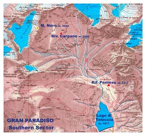 Monte Nero map