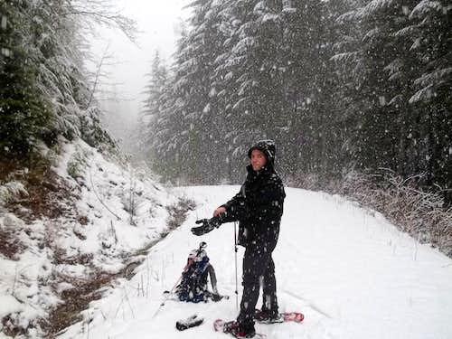 Joel with his snowshoes on!