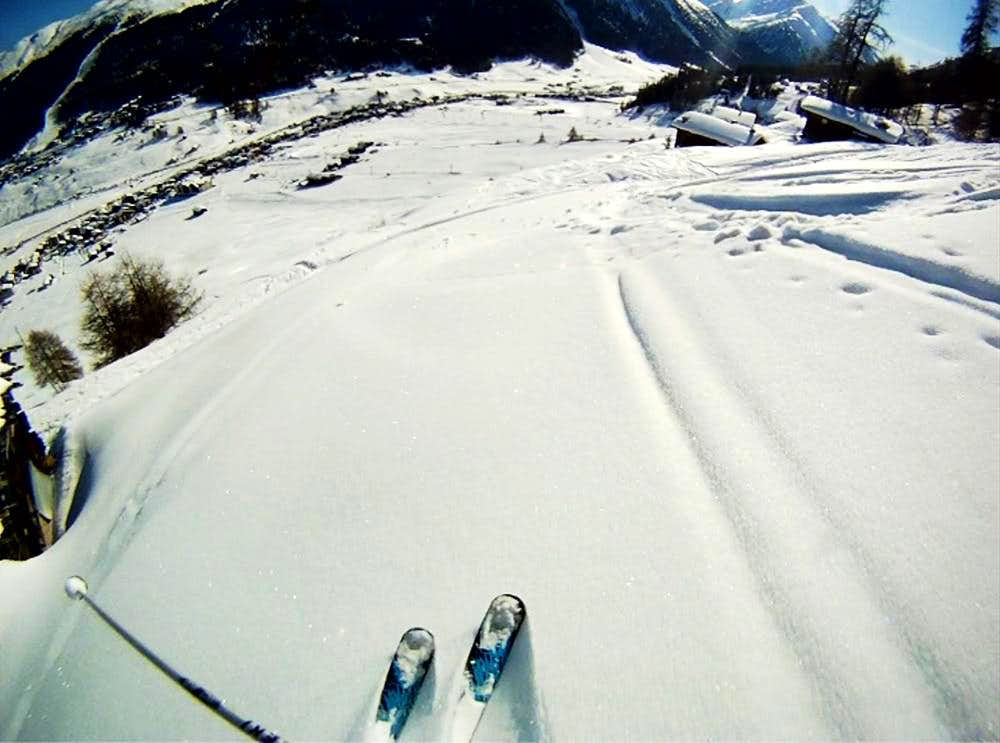 Freeride ski routes in Livigno valley