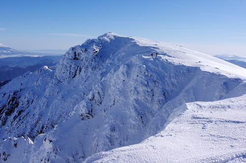 Ice climbing routes on the North face of Ďumbier