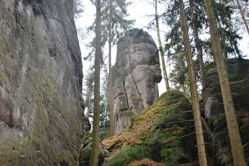There are few very hard climbing routes..