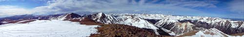 Panorama from top of Engelmann Peak