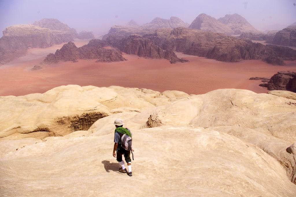 An Ascent of Sabbah\'s Route on Jebel Khazali in the Wadi Rum