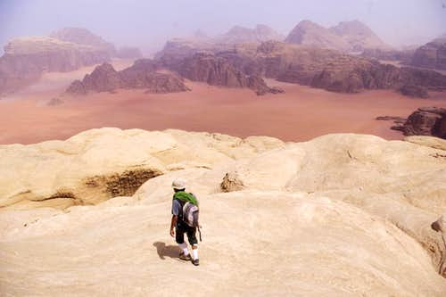 An Ascent of Sabbah's Route on Jebel Khazali in the Wadi Rum