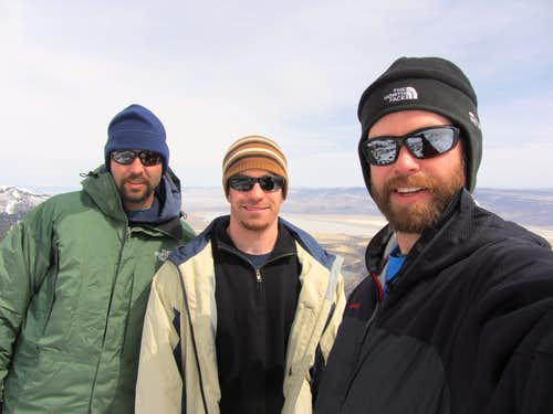 Hat Mountain summit crew