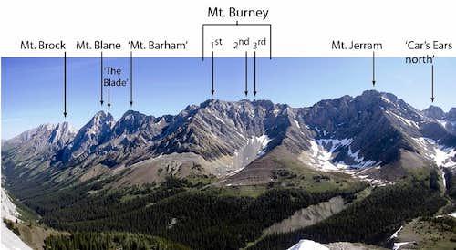 Mt. Brock to Mt. Jerram labelled