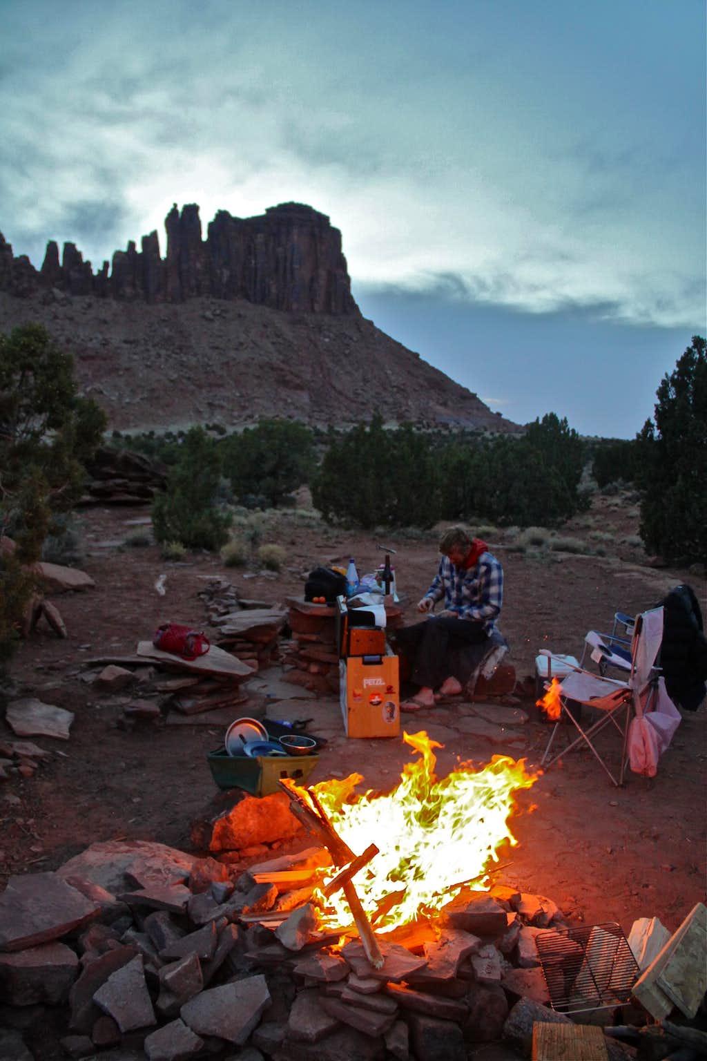 Camping at Bridger jacks