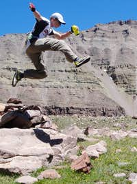 Taking Flight with the Summit of Kings Peak in the Background