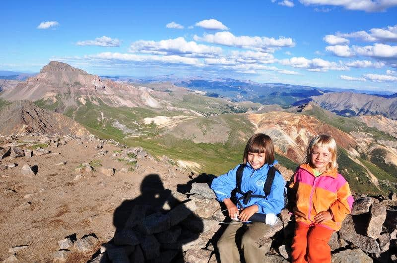 The youngest hikers of  Wetterhorn, 14000+ ft, Colorado