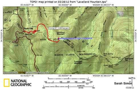 Levelland Mountain Route Map