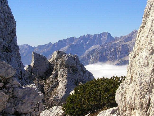 Ridge of Pelci from Martuljek...