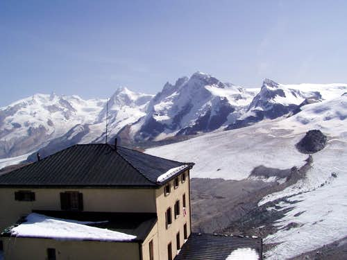 Hörnli with Breithorn