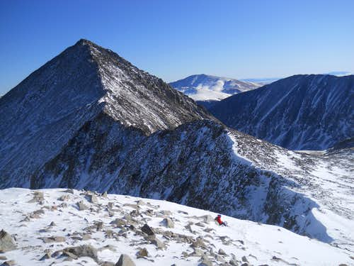 Ascending the SE Ridge of  Fletcher