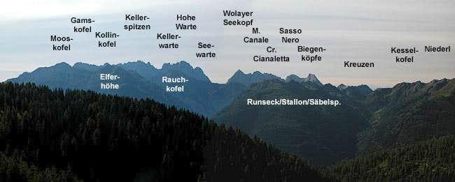 Summit view Lumkofel: Carnic...
