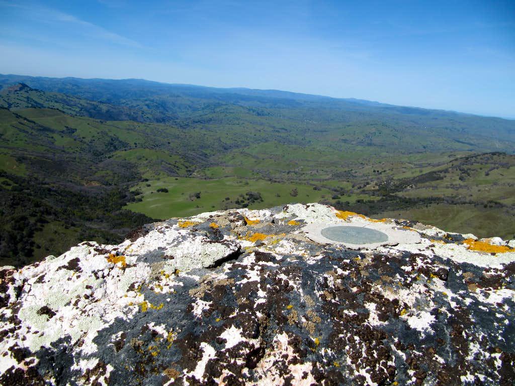 Cathedral Peak summit marker