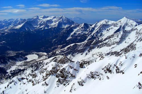 Timpanogos and Box Elder Peaks.