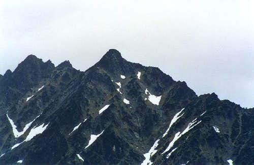 Close up of the South Summit...