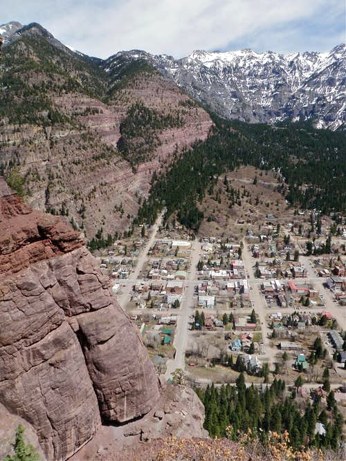 Ouray as seen from the climb