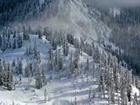 Snow Lake Pass Below