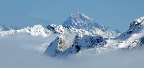 Mount Stuart Above the Clouds