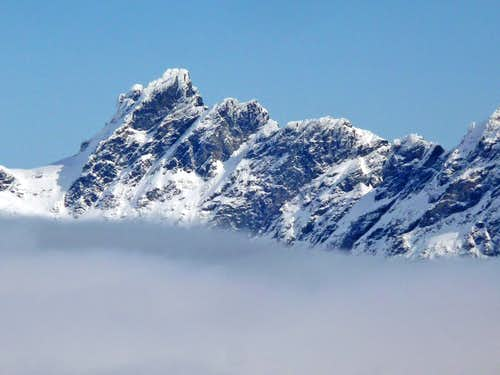 Overcoat Peak above the Clouds