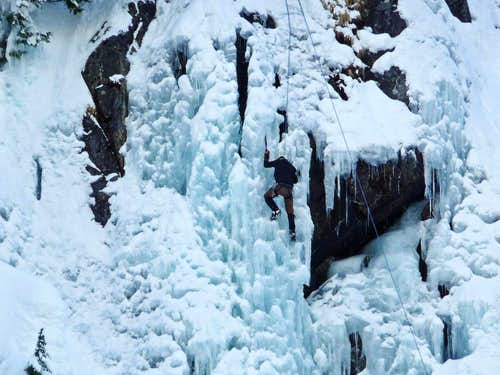 Ice Climbing near Alpental