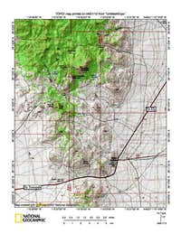 Area map of Rawhide Mountain (NV)