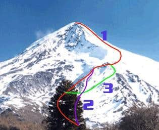 3 routes up to Volcan Nevado...