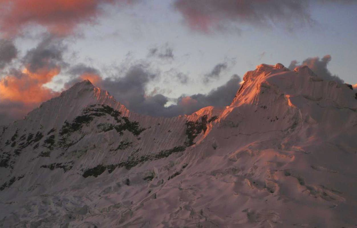 Alpenglow on the Nevados Akilpo