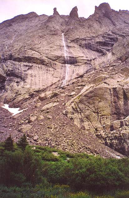 A 200-300 foot waterfall that...
