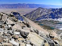 Owens Valley from Mt. Gould south slope