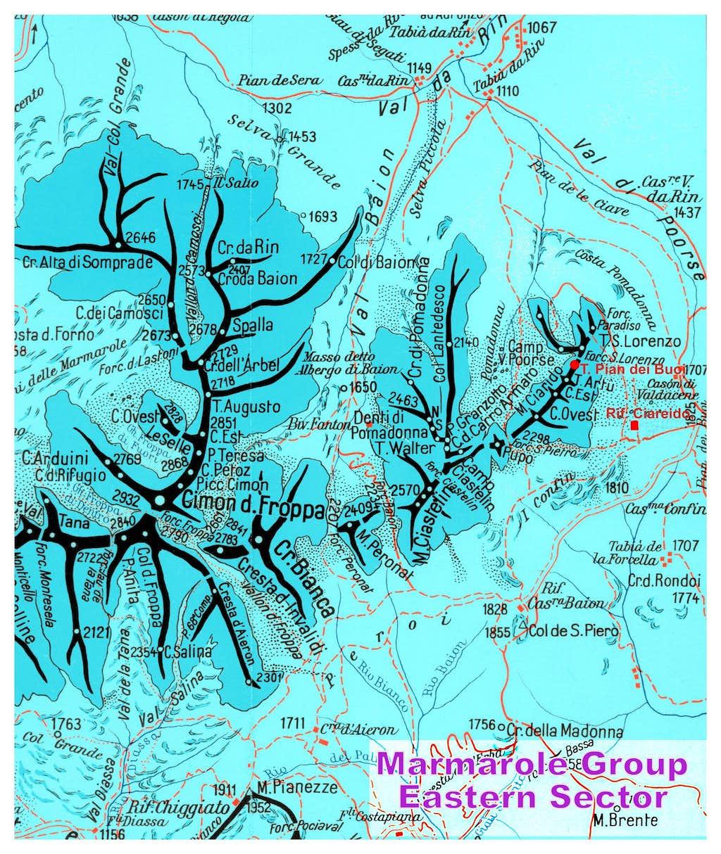 Marmarole South Est sector map