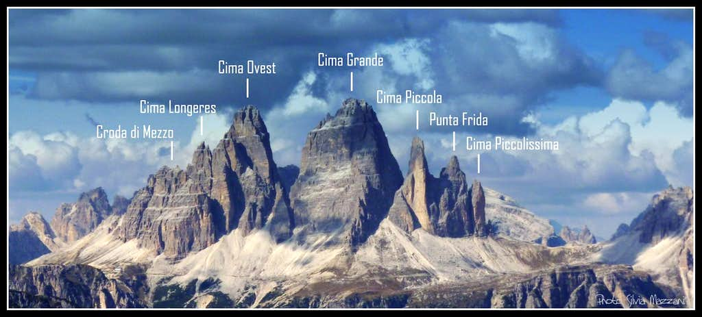 Lavaredo Group from South