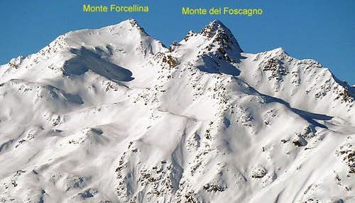Monti Foscagno e Forcellina seen from Pizzo Filone