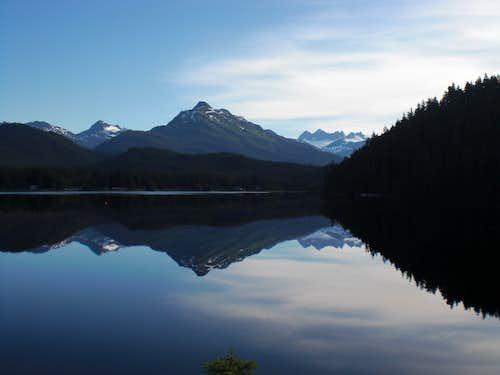 Auk Lake on a calm day