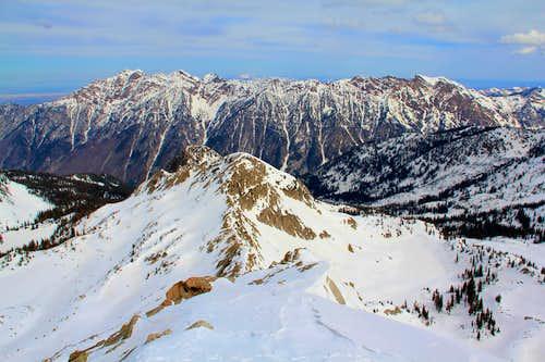 Lake Peak and the Cottonwood Ridge.
