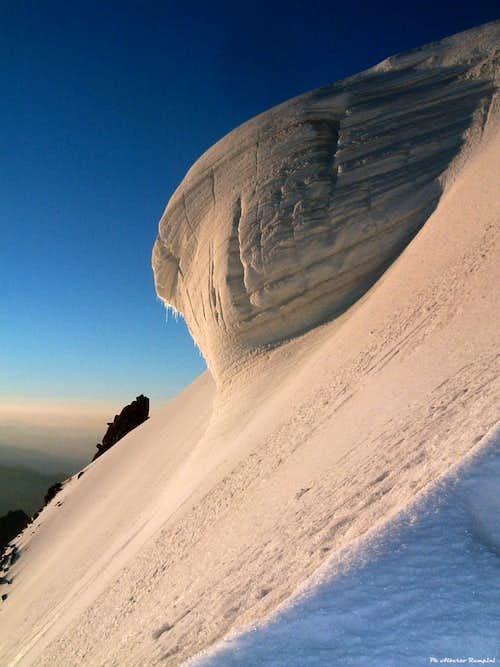 A serac on Mont Blanc du Tacul